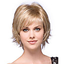 cheap Human Hair Capless Wigs-Synthetic Wig Natural Wave Blonde Bob / With Bangs Blonde Synthetic Hair Women's Side Part Blonde Wig Short Capless StrongBeauty
