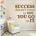 cheap Wall Stickers-Fashion Words & Quotes Wall Stickers Plane Wall Stickers Decorative Wall Stickers, PVC Home Decoration Wall Decal Wall
