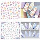 baratos Adesivos de Unhas-1 pcs Autocolantes de Unhas 3D Jóias de Unhas Adesivo de transferência de água arte de unha Manicure e pedicure Adorável Fashion Diário / PVC / Jóias de unha / Etiquetas de unhas 3D