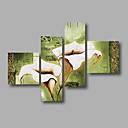 preiswerte Weihnachtsschmuck-Hang-Ölgemälde Handgemalte - Blumenmuster / Botanisch Modern Segeltuch