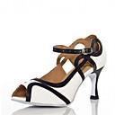 baratos Sapatos de Jazz-Mulheres Sapatos de Dança Latina / Sapatos de Salsa Cetim / Courino Sandália / Salto Presilha / Vazados Salto Personalizado Personalizável Sapatos de Dança Branco / Vermelho / Interior / Espetáculo