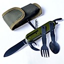 cheap Human Hair Capless Wigs-Knives Fork Opener Single for Plastics Stainless Steel Outdoor Hunting Camping Traveling
