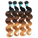 זול תוספות שיער אומברה-4 חבילות שיער ברזיאלי Body Wave שיער בתולי אחרים Ombre שוזרת שיער אנושי רך תוספות שיער אדם