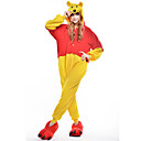 cheap Kigurumi Pajamas-Adults' Kigurumi Pajamas Bear Onesie Pajamas Polar Fleece Yellow Cosplay For Men and Women Animal Sleepwear Cartoon Halloween Festival / Holiday