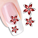 billige Opbevaring & Organisering-1Pc 3D Negle Stickers Negle kunst Manicure Pedicure Blomst / Mode Daglig / 3D Nail Stickers