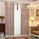 "cheap Curtains & Drapes-Custom Made Blackout Blackout Curtains Drapes Two Panels 2*(72W×84""L) Gray / Jacquard / Kids Room"