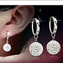 cheap Earrings-Women's Disco Ball Drop Earrings - Rhinestone Ball Elegant, Bridal Silver For Daily Casual