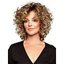billige Syntetiske parykker uten hette-Syntetiske parykker Dame Krøllet Syntetisk hår Parykk Kort Lokkløs Gyldenbrun StrongBeauty