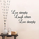 cheap Wall Stickers-Shapes Wall Stickers Words & Quotes Wall Stickers Decorative Wall Stickers, Vinyl Home Decoration Wall Decal Wall Decoration