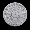 cheap Rhinestone & Decorations-1wheel white half pearls 3d nail art decorations