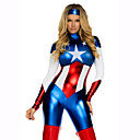 cheap Sexy Uniforms-Super Heroes Cosplay Costume Women's Movie Cosplay 2# / 3# / Medium Brown Leotard / Onesie Hat Christmas Halloween New Year Patent Leather PVC(PolyVinyl Chloride)