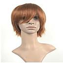 billige Kostumeparyk-Syntetiske parykker Lige Syntetisk hår Brun Paryk Dame Kort