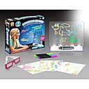 baratos Desenho Brinquedos-YIJIATOYS Brinquedo para Desenhar / Lousas Mágicas Iluminação de LED / Fluorescente / 3D Plástico / Papel / ABS 100 pcs Peças Dom