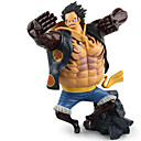 billige Anime actionfigurer-Anime Action Figurer Inspirert av One Piece Monkey D. Luffy PVC 17.5 CM Modell Leker Dukke