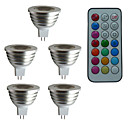 cheap LED Spot Lights-3W 300 lm GU5.3(MR16) LED Spotlight MR16 1 leds High Power LED Dimmable Decorative Remote-Controlled RGB AC 12V DC 12V