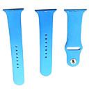 billige Smartklokke Tilbehør-Klokkerem til Apple Watch Series 4/3/2/1 Apple Sportsrem Silikon Håndleddsrem