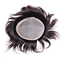 cheap Toupees-men's toupee 6x8 inch human hair toppers hair men's hair systems pieces mono base toupee