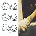 abordables Tatuajes Temporales-1 pcs Tatuajes Adhesivos Los tatuajes temporales Series de Animal Impermeable Artes de cuerpo Rostro / manos / brazo / Waterproof
