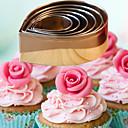 baratos Utensílios para Biscoitos-Ferramentas bakeware Aço Inoxidável Faça Você Mesmo Pão / Bolo / Cupcake Molde