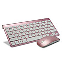 cheap Keyboards-Wireless 2.4Ghz Office Gaming Keyboard 2400DPI Mouse and Batteries 3 Pieces a Set