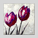 baratos Adesivos de Parede-Pintura a Óleo Pintados à mão - Floral / Botânico Clássico Estilo Europeu Modern Tela de pintura