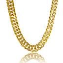 cheap Men's Necklaces-Men's Chain Necklace - Platinum Plated, Gold Plated Personalized Golden Necklace For Gift, Daily, Casual