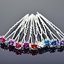 cheap Party Headpieces-Alloy Headwear / Hair Pin with Floral 1pc Wedding / Special Occasion Headpiece
