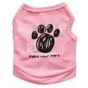 billige Hundetøj-Kat Hund T-shirt Hundetøj Blomster / botanik Sort Blå Lys pink Terylene Kostume For kæledyr Herre Dame Mode