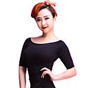 cheap Synthetic Capless Wigs-Latin Dance Tops Women's Training Chinlon Velvet Pattern / Print Half Sleeves Top