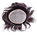 رخيصةأون لمبات LED-شعر مستعار طبيعي شعر مستعار مستقيم Monofilament / 100% مربوط باليد