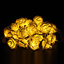 abordables Guirlandes Lumineuses LED-5m 20-led décoration de vacances de Noël en plein air a augmenté de forme de lumière blanche chaude led chaîne de lumière (220v)