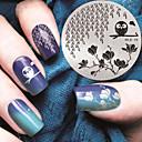 preiswerte Nail Stamping-1 pcs Stempelplatte Vorlage Modisches Design Nagel Kunst Maniküre Pediküre Stilvoll / Modisch Alltag / Metal