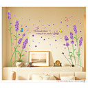preiswerte Wand-Sticker-Landschaft Romantik Blumen Botanisch Wand-Sticker Flugzeug-Wand Sticker Dekorative Wand Sticker, Vinyl Haus Dekoration Wandtattoo Wand