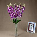 ieftine Flor Artificiales-1 ramură Poliester Orhidee Față de masă flori Flori artificiale