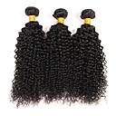 billige Hårvever med ekte hår-3 pakker Brasiliansk hår Kinky Curly / Krøllete Weave Ubehandlet hår Menneskehår Vevet Hårvever med menneskehår Hot Salg Hairextensions med menneskehår / Kinky Krøllet