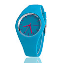 cheap Fashion Watches-Women's Wrist Watch Quartz Silicone Black / White / Blue Casual Watch Analog Ladies Charm Casual Fashion - Blue Pink Light Green One Year Battery Life / Tianqiu 377