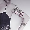 baratos Tatuagens Temporárias-Desenhos Animados / Etiqueta do tatuagem Rosto / Corpo / Mãos Tatuagens temporárias 2 pcs Séries Totem / Séries Animal / Séries Flores Arte para o Corpo