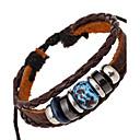 preiswerte Modische Armbänder-Herrn Damen Strang-Armbänder Lederarmbänder - Leder Armbänder Braun Für Hochzeit Party Alltag