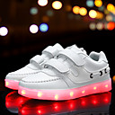 رخيصةأون أحذية الفتيات-فتيات أحذية PU خريف مريح / أحذية مضيئة أحذية رياضية مشبك / LED إلى أبيض / أسود / زهري