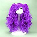 halpa Anime-peruukit-Synteettiset peruukit / Pilailuperuukit Kihara Synteettiset hiukset Peruukki Naisten Suojuksettomat