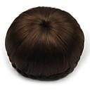 baratos Pedaços de Cabelo-Marron Clássico Chique & Moderno Bolo de cabelo Updo Alta qualidade Coques Cabelo Sintético Pedaço de cabelo Alongamento Clássico Chique