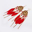 cheap Earrings-Women's Tassel Drop Earrings - Tassel, Bohemian, European Black / Red / Green For Party / Daily / Casual