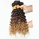 preiswerte Hochzeit Schals-3 Bündel Peruanisches Haar Locken / Wogende Wellen Echthaar Menschenhaar spinnt Menschliches Haar Webarten Haarverlängerungen