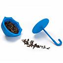 hesapli Çay ve Kahve-Silikon Yaratıcı Mutfak Gadget / Çay Şemsiye 1pc Çay Süzgeci / Günlük