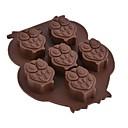 baratos Artigos de Forno-Ferramentas bakeware Silicone Amiga-do-Ambiente / Ano Novo Bolo / Biscoito / Torta Animal Molde 1pç