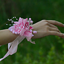 "baratos Bouquets de Noiva-Bouquets de Noiva Buquê de Pulso Casamento Festa / Noite Tule Cetim 1.18""(Aprox.3cm)"