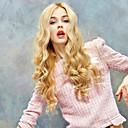 abordables Pelucas Sintéticas-Pelucas sintéticas Ondulado Grande Rubio Pelo sintético Rubio Peluca Mujer Sin Tapa