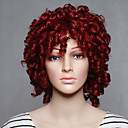 cheap Synthetic Capless Wigs-Synthetic Wig Curly Synthetic Hair Red Wig Women's Short Capless Red