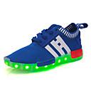 זול נעלי ילדות-בנים / בנות נעליים טול אביב נעלי ספורט שרוכים / סרט גומי / LED ל שחור / אדום / כחול רויאל