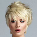 cheap Synthetic Capless Wigs-Synthetic Wig Straight Synthetic Hair Blonde Wig Women's Short Capless